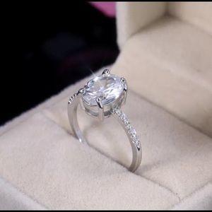 Charm 925 silver white sapphire ring